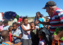 School children collect waste in South Africa