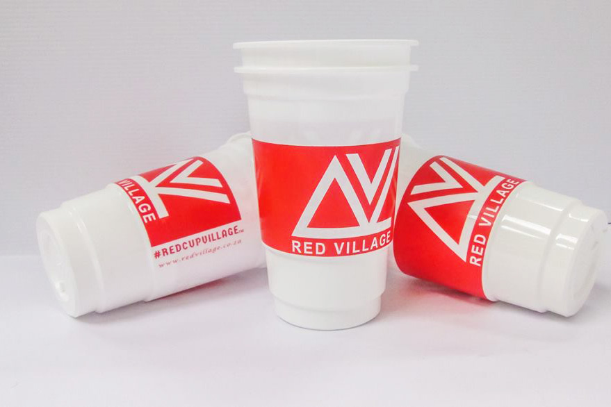 Red Cup Village drinking cups