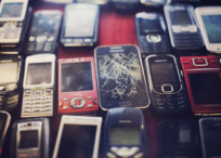 E-waste broken cellphones