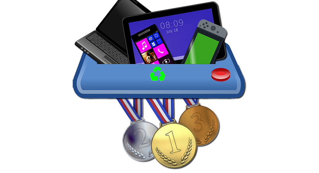 Recycled electronics for 2020 Olympic medals