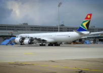 South African Airways plane at airport