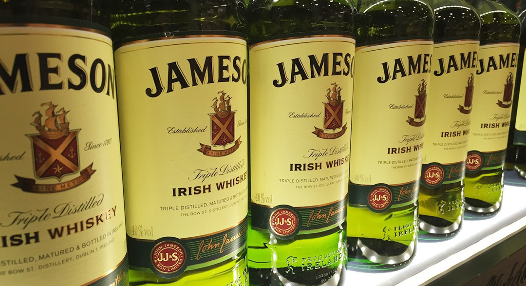 Pernod Ricard owns Jameson brand of whiskey