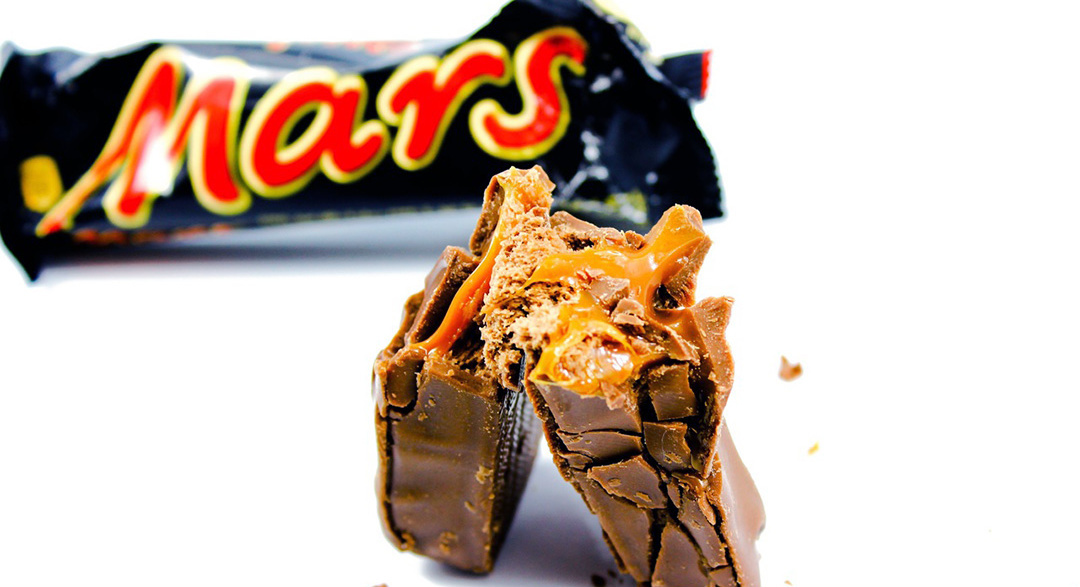 Mars chocolate bar and packaging