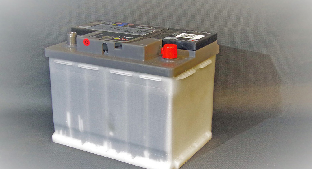 Plastic car batteries