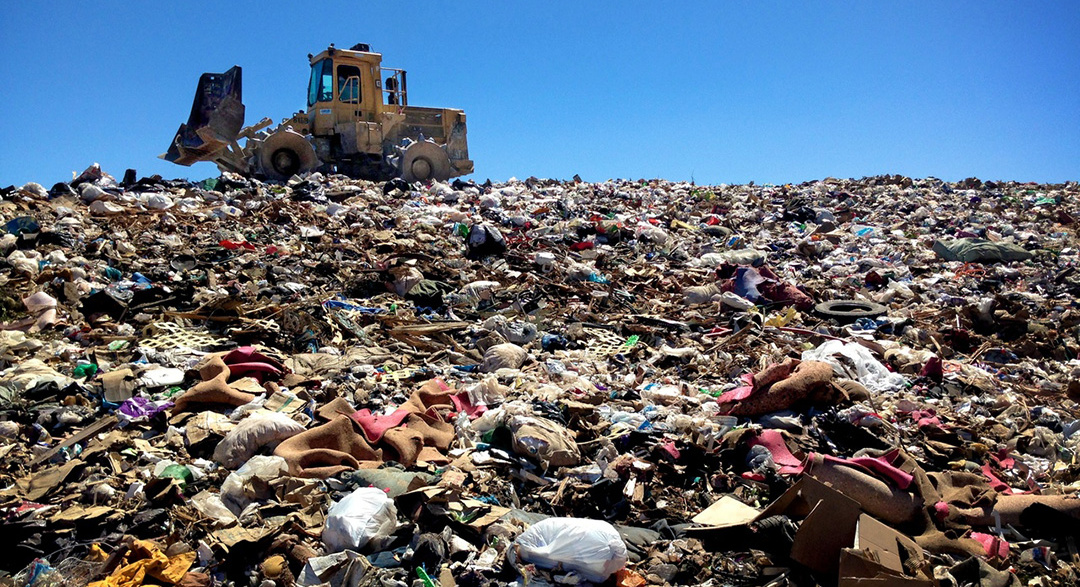 Landfill plastic waste causing global warming