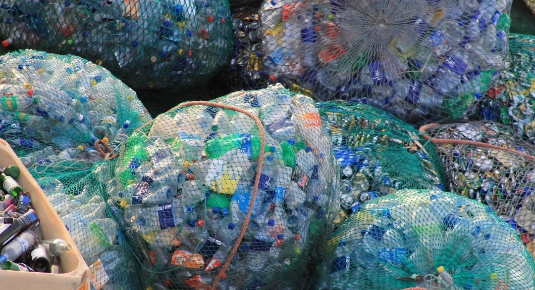 recycling project plastic sorted in bags