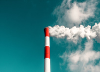 Air pollution from chimney stack