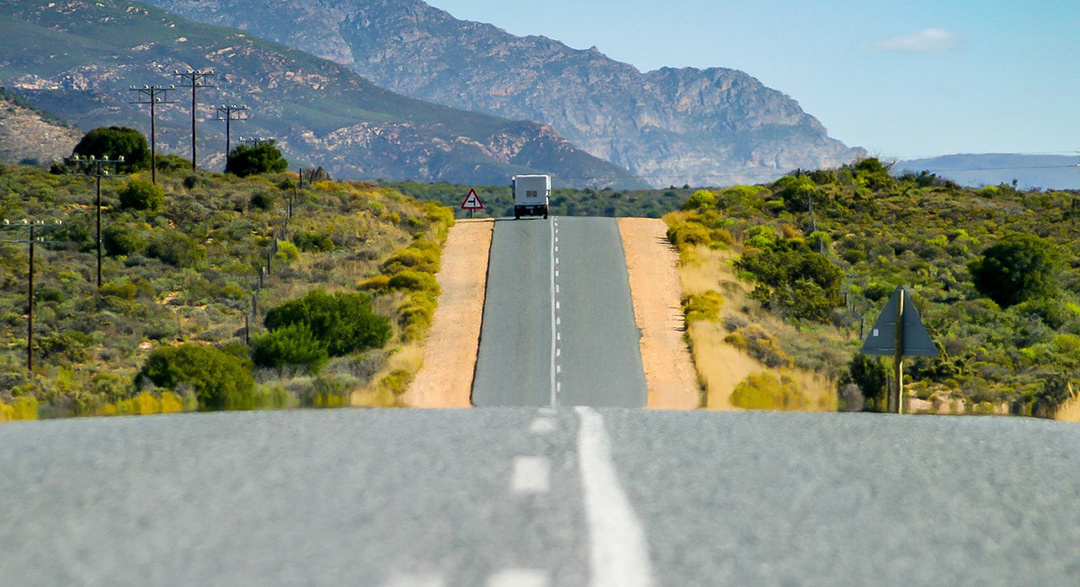 Plastic-based road in South Africa